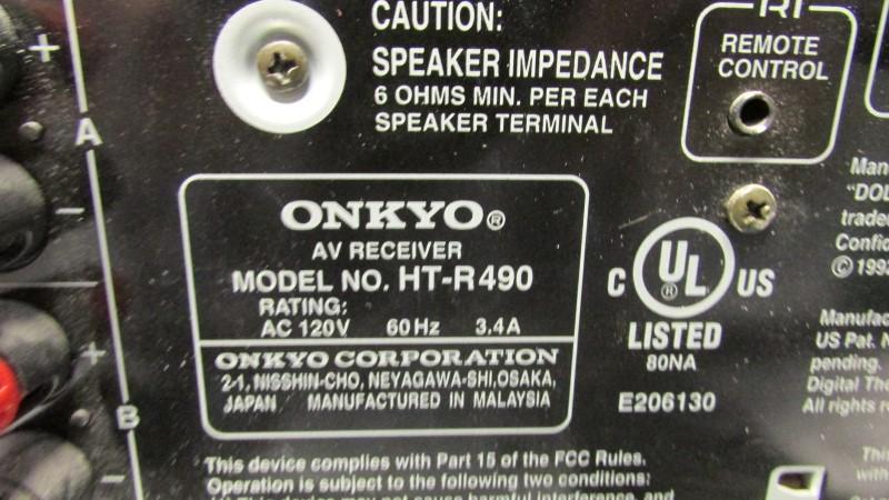 ONKYO Receiver HT-R490
