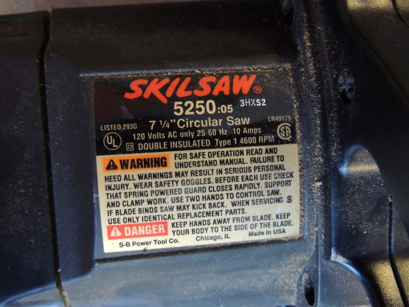 "Skil SkilSaw Corded Circular Saw 5250 7-1/4"" 120V USA Made"