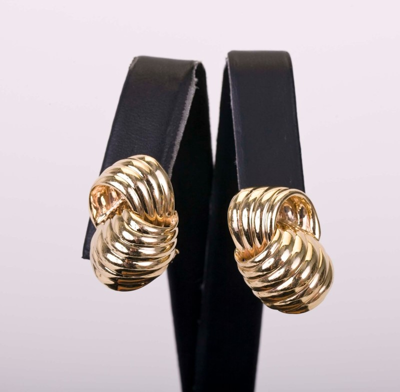 GOLD EARRINGS CLIP-ON 14KYG  17.2g