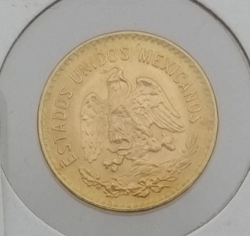1955 M Mexican Cinco (5) Pesos Gold Coin