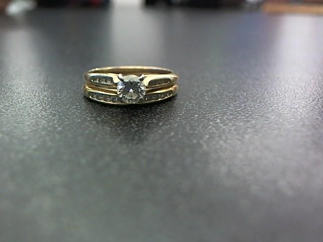 Lady's Diamond Wedding Set 20 Diamonds .68 Carat T.W. 14K Yellow Gold 3.6g