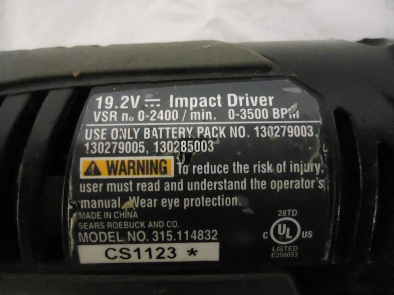 CRAFTSMAN Cordless Drill 315.114832 IMPACT