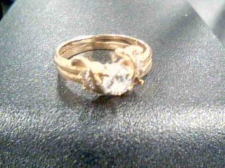 Lady's Diamond Cluster Ring 6 Diamonds .30 Carat T.W. 14K Yellow Gold 3.2g