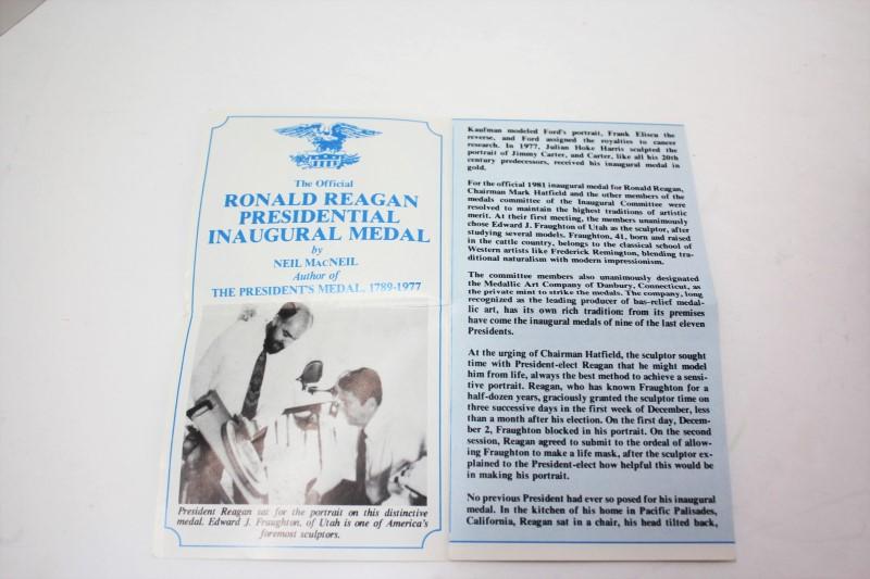 RONALD REAGAN PRESIDENTIAL INAUGURAL MEDAL - Silver Bullion
