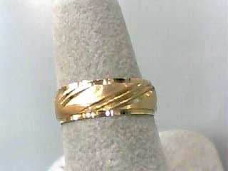 Lady's Gold Wedding Band 14K Yellow Gold 1.8dwt Size:6.5