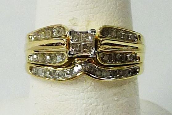 Lady's Diamond Wedding Set 34 Diamonds .46 Carat T.W. 10K Yellow Gold 2.29dwt