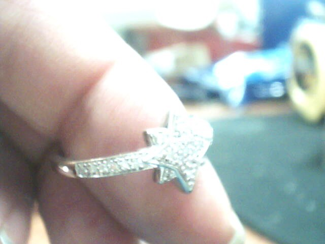 Lady's Diamond Cluster Ring 28 Diamonds .140 Carat T.W. 14K White Gold 1.3dwt