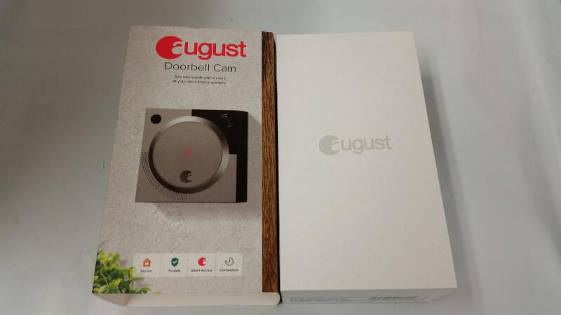 August Bluetooth Smart Video Doorbell Cam (Silver)