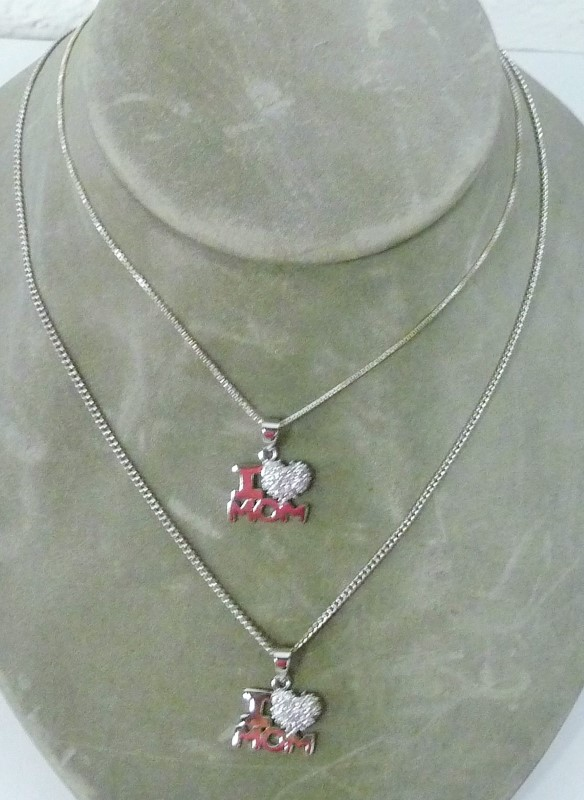 Synthetic Cubic Zirconia Stone Necklace 2.22dwt