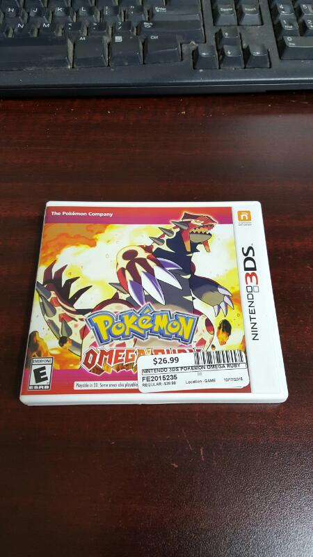 Pokemon Omega Ruby (Nintendo 3DS, 2014)
