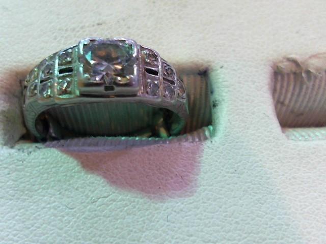 Platinum-Diamond Wedding Set 11 Diamonds .60 Carat T.W. 950 Platinum 2.8g