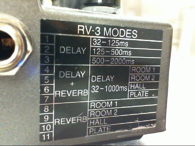 BOSS Effect Equipment RV-3 Digital Reverb/Delay