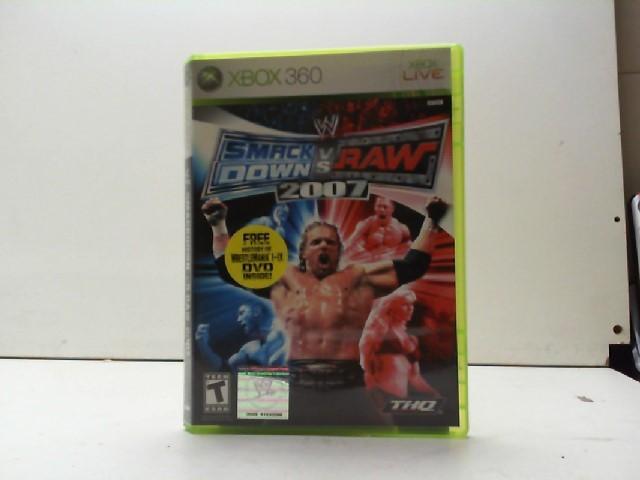 MICROSOFT Microsoft XBOX 360 Game SMACKDOWN VS RAW 2007
