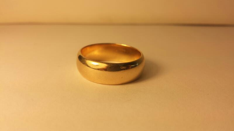GTS 14K YG Plain Wedding Band