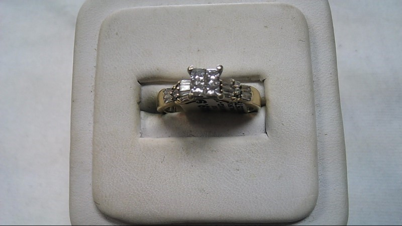 Lady's Diamond 14K Yellow Gold Engagement Ring .53 Carat T.W. 3g (Free S/H)