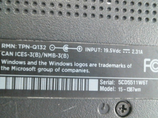HEWLETT-PACKARD Laptop/Netbook 15-F387WM