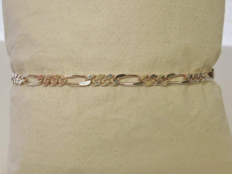 Silver Figaro Bracelet 925 Silver 4.4g