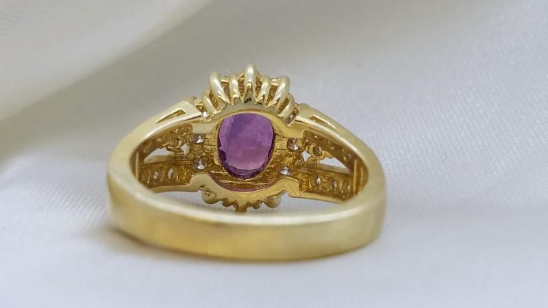 Ladies Purple Sapphire & Diamond Ring 26 Diamonds 1.04 Carat T.W.