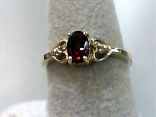 Almandite Garnet Lady's Stone Ring 10K Yellow Gold 1dwt Size:6.5