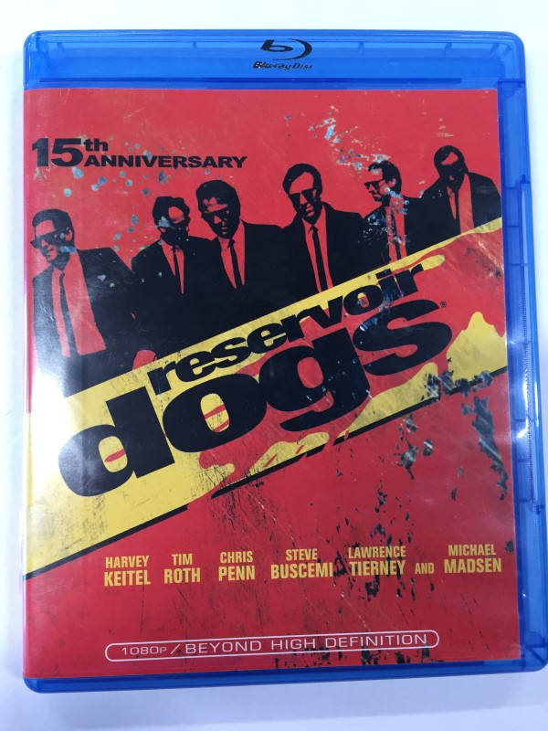 RESERVOIR DOGS ACTION BLU-RAY MOVIE, 15TH ANNIVERSARY EDITION.