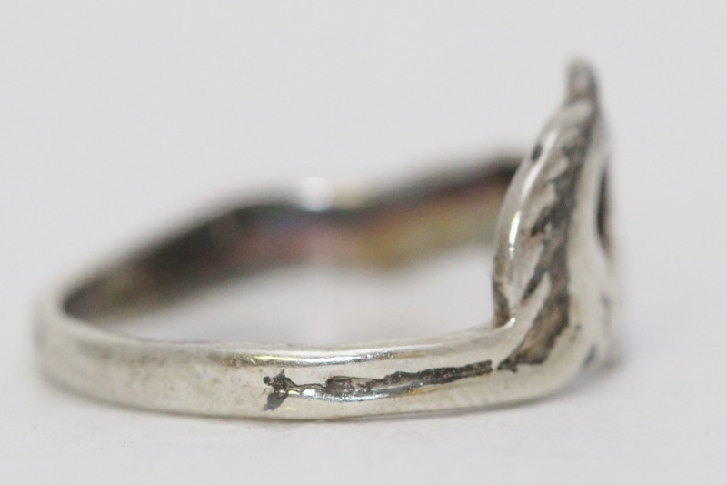 Sterling Silver Equestian Horse Laying Down Wrap Around Ring Size: 7