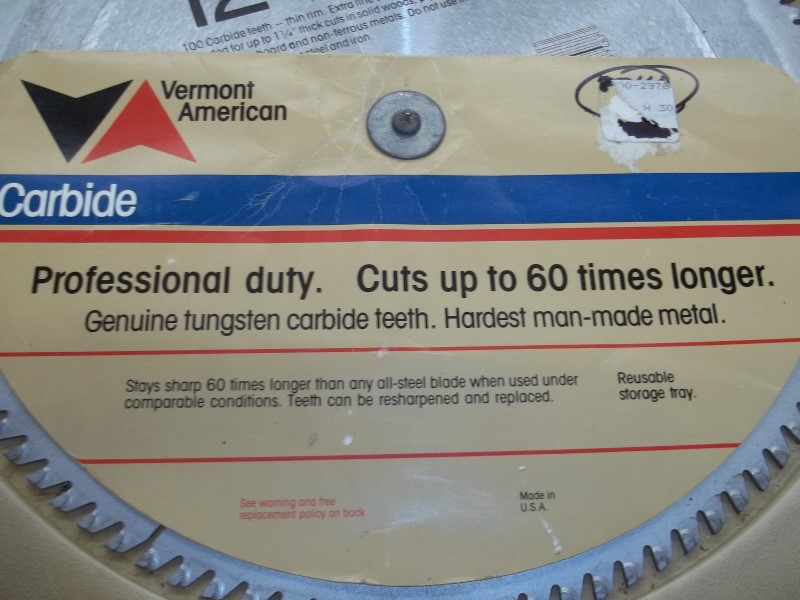 """VERMONT AMERICAN 12"""" SAW BLADE"""