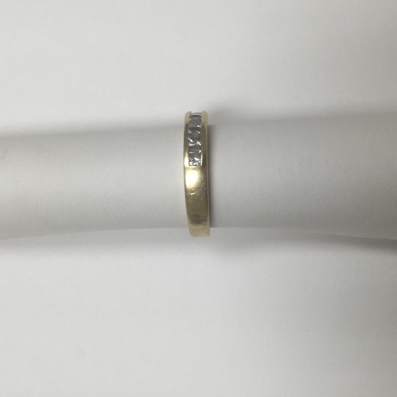 Gent's Gold-Diamond Wedding Band 11 Diamonds .40 Carat T.W. 14K Yellow Gold