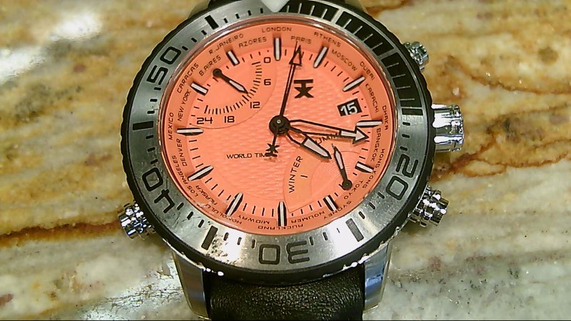 Timex Techno Luxury T3C447 World Time Watch Orange Black