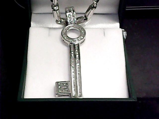 Diamond Necklace 150 Diamonds 3.00 Carat T.W. 10K White Gold 31.2dwt