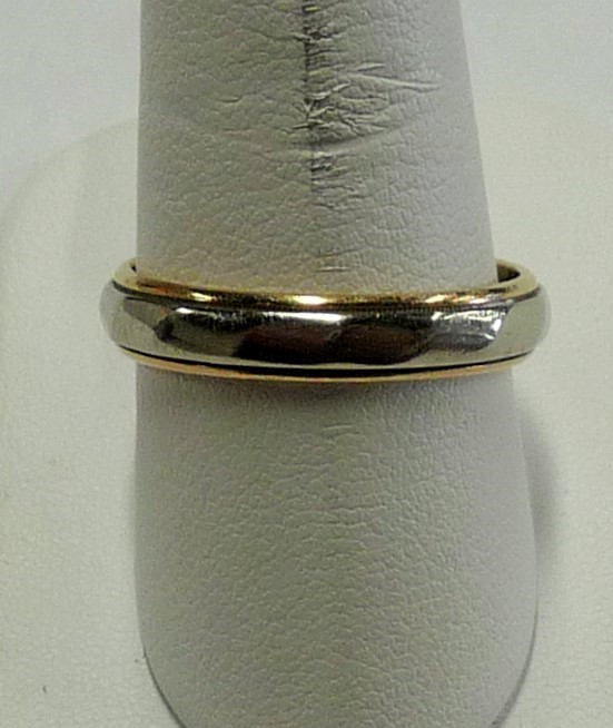 Gent's Gold Wedding Band 14K 2 Tone Gold 3.67dwt