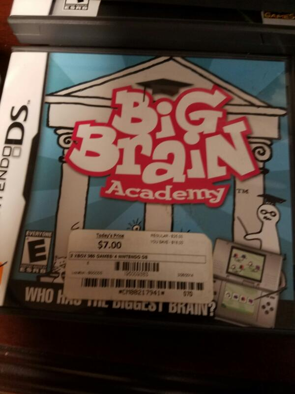 NINTENDO Nintendo DS Game BIG BRAIN ACADEMY