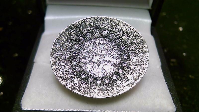 Silpada Circle Cubic Zirconia Ring Sz 10.5