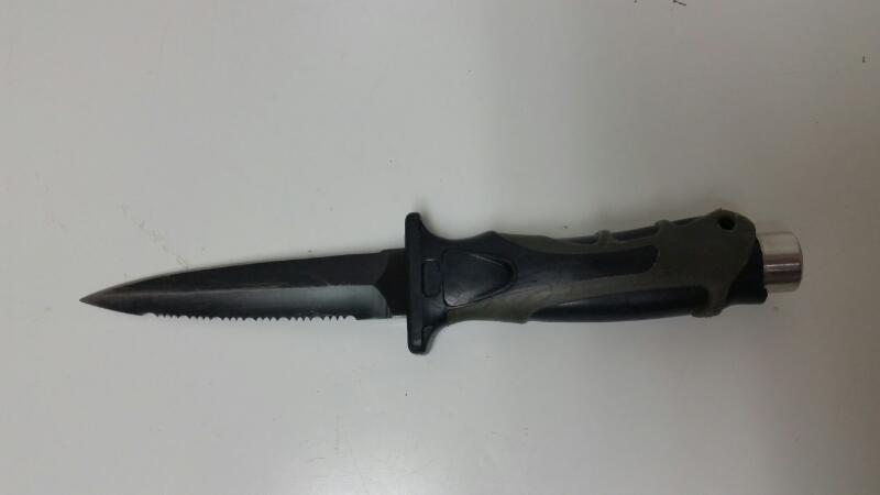 MAKO RUBBER GRIP FIXED BLADE DIVING KNIFE