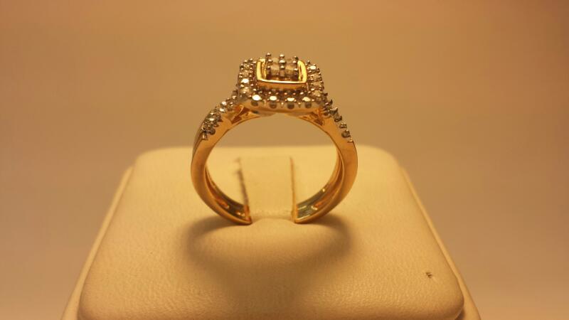 10k Wedding Set 41 Diamonds .45ctw - 3.4dwt - Size 7
