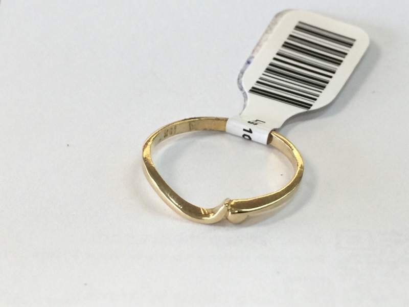 LDS 10KT Lady's Gold Wedding Band PLAIN BAND 10K Yellow Gold 0.7dwt Size:6.5
