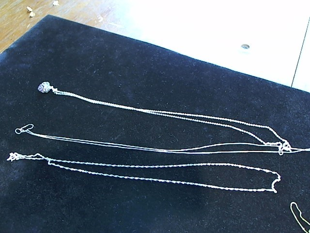 "18"" Gold Chain 14K White Gold 1.1g"