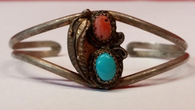 Native American Indian Silver Bracelet 925 Silver 9.6g