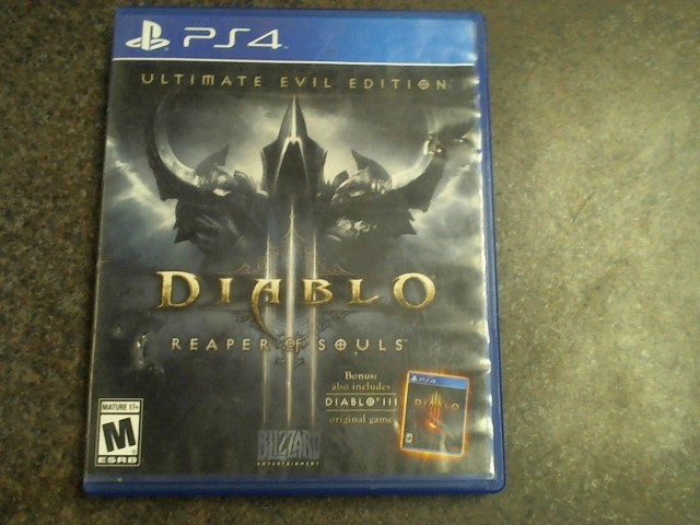 SONY PS4 PlayStation 4 Game DIABLO III REAPER OF SOULS ULTIMATE EVIL EDITION