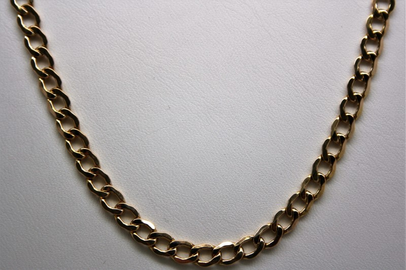 "20"" CURB LIN STYLE CHAIN 14K YELLOW GOLD"