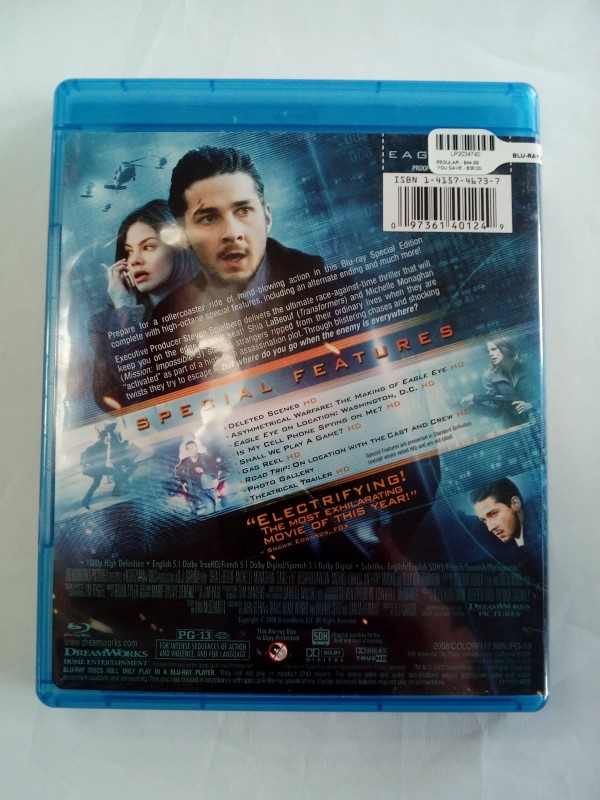 EAGLE EYE, ACTION BLU-RAY MOVIE