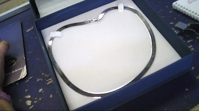 Gold Herringbone Chain 14K White Gold 11.4g