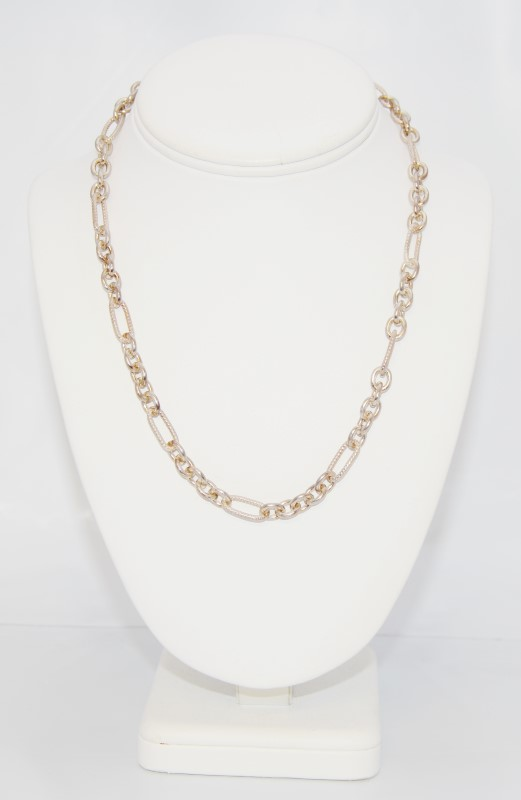 "18"" Sterling Silver Large Cable Link Chain Necklace"