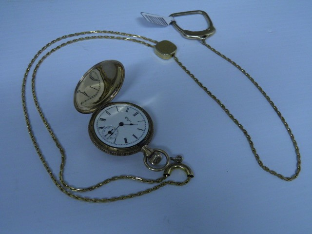 ELGIN WATCH CO Pocket Watch 14K GOLD POCKET WATCH 14K Yellow Gold 35g