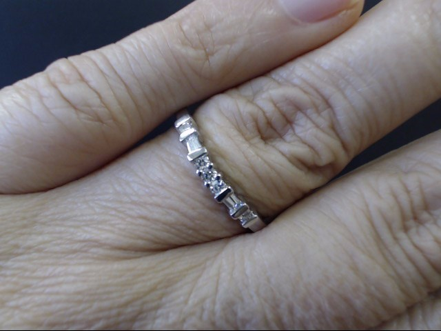 VINTAGE DIAMOND ANNIVERSARY WED RING BAND SOLID PLATINUM 950 SZ 8.25