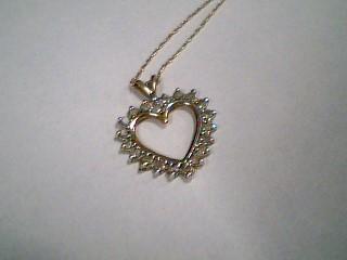 "20"" Diamond Necklace 20 Diamonds .20 Carat T.W. 10K 2 Tone Gold 1.2g"