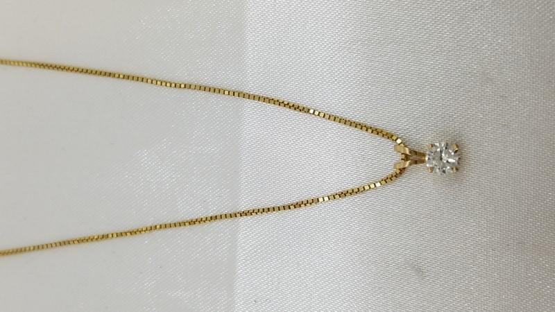 "19"" Diamond Necklace .28 CT. 14K Yellow Gold 2.4g"