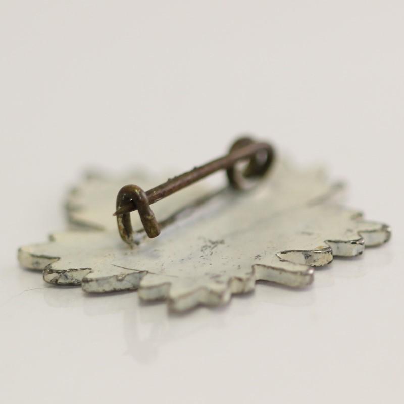 """Mother"" Antique Silver Brooch Vermeil 2.6g"
