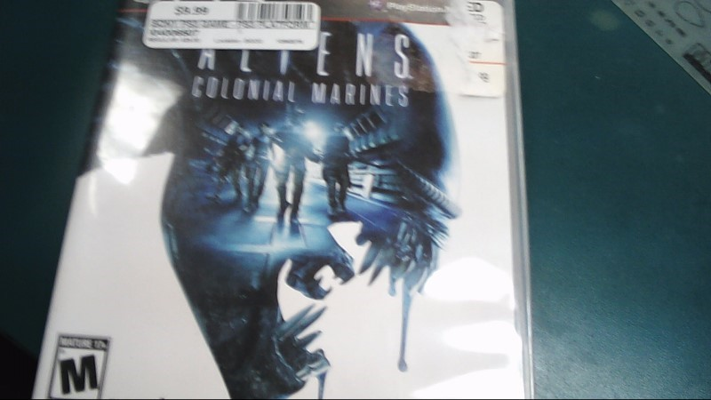SEGA Sony PlayStation 3 Game ALIENS COLONIAL MARINES