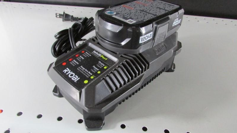 RYOBI Battery/Charger P118