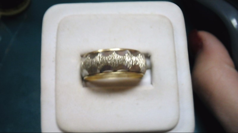 Gent's Gold Wedding Band 14K 2 Tone Gold 7.4g Size:10